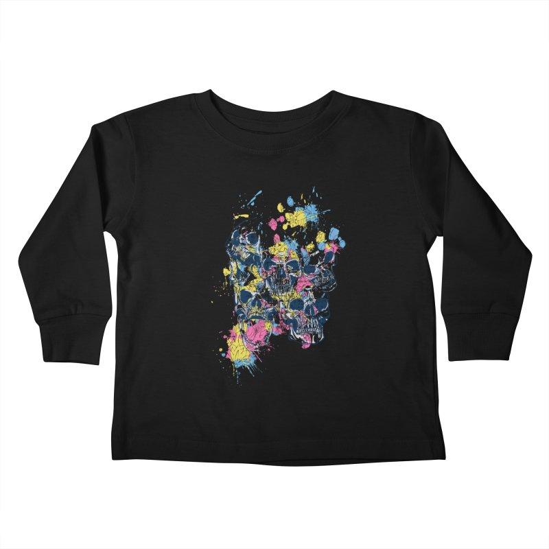 Party Skull Kids Toddler Longsleeve T-Shirt by Gab Fernando's Artist Shop