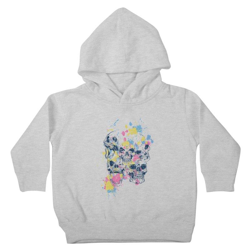 Party Skull Kids Toddler Pullover Hoody by Gab Fernando's Artist Shop