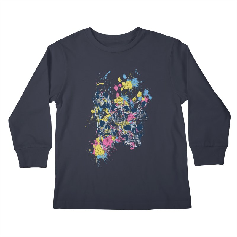 Party Skull Kids Longsleeve T-Shirt by Gab Fernando's Artist Shop