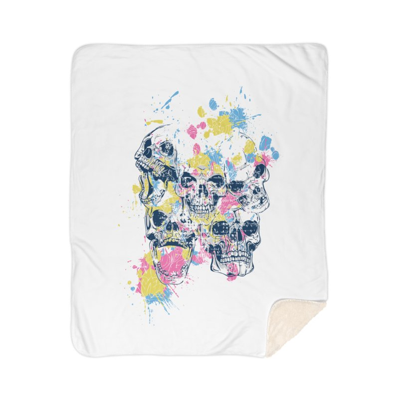 Party Skull Home Blanket by Gab Fernando's Artist Shop