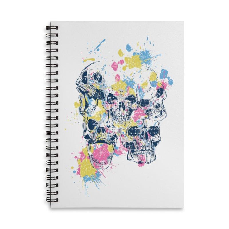 Party Skull Accessories Notebook by Gab Fernando's Artist Shop