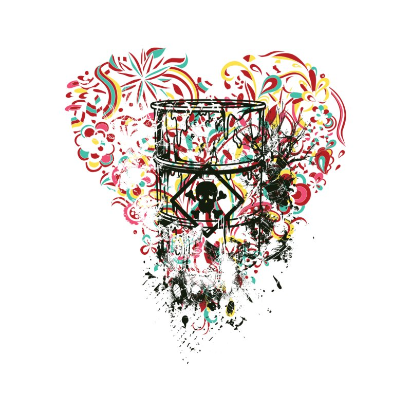 Drum of Love Kids Baby T-Shirt by Gab Fernando's Artist Shop
