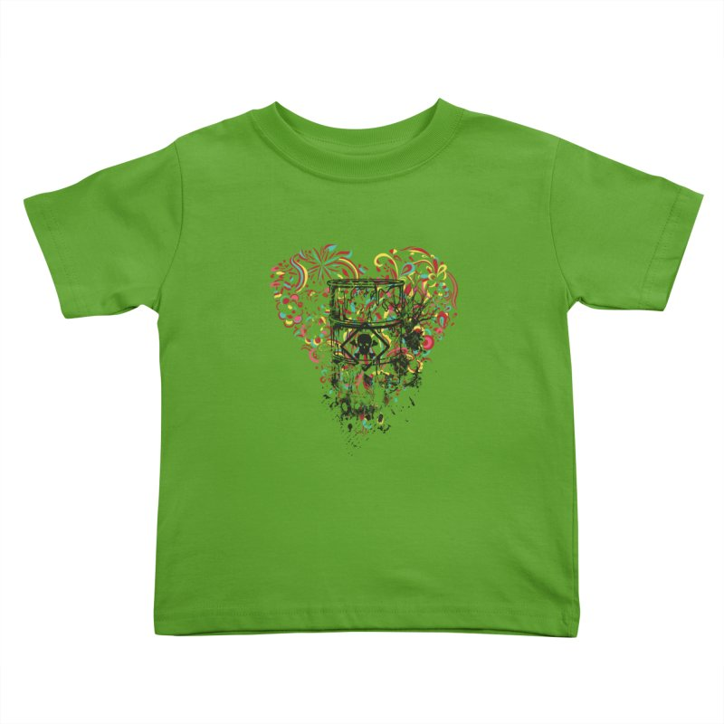 Drum of Love Kids Toddler T-Shirt by Gab Fernando's Artist Shop