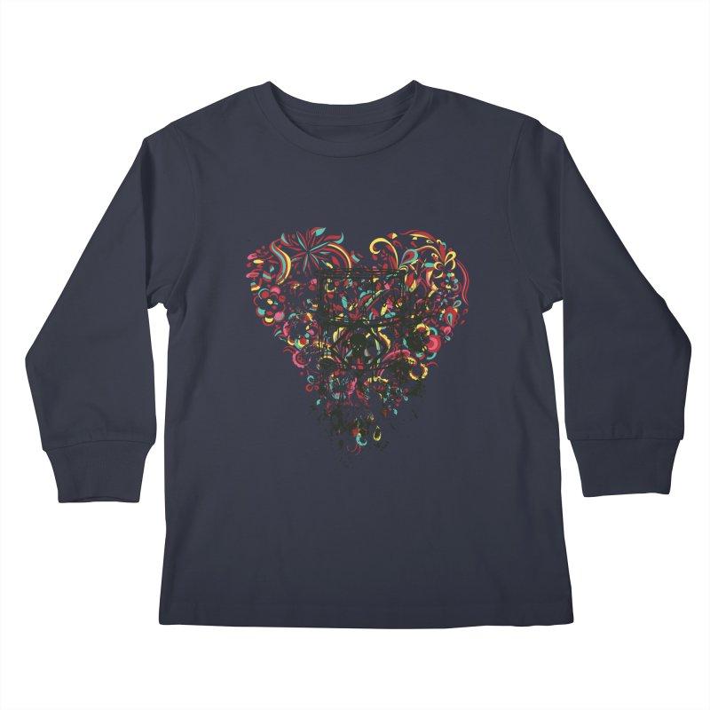 Drum of Love Kids Longsleeve T-Shirt by Gab Fernando's Artist Shop