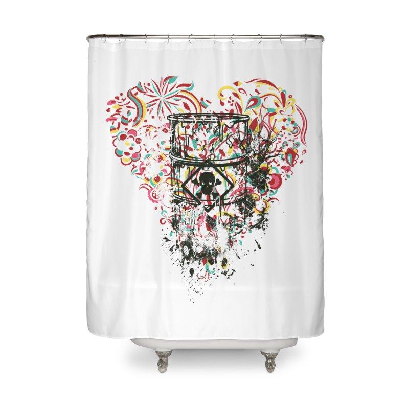 Drum of Love Home Shower Curtain by Gab Fernando's Artist Shop