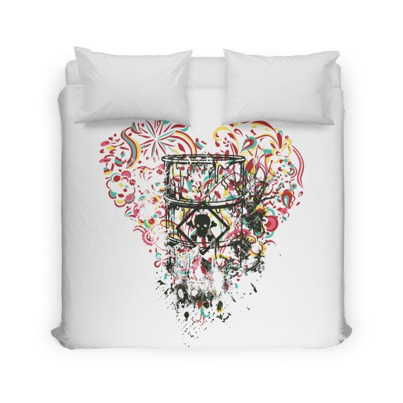 Drum of Love Home Duvet by Gab Fernando's Artist Shop
