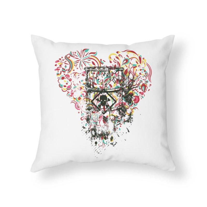 Drum of Love Home Throw Pillow by Gab Fernando's Artist Shop