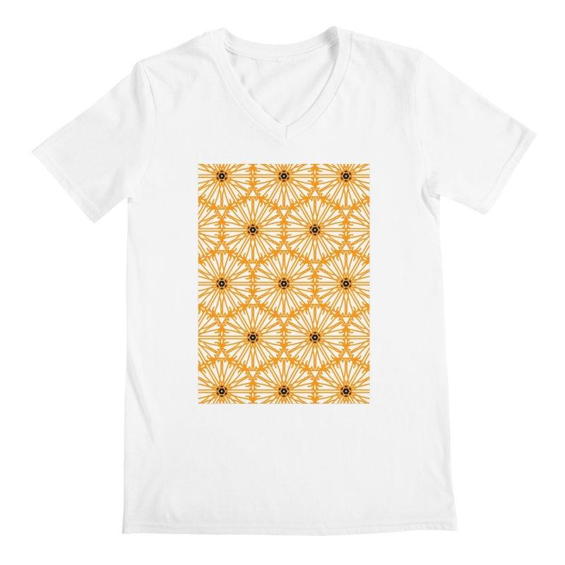 Sunflower Men's V-Neck by Gab Fernando's Artist Shop