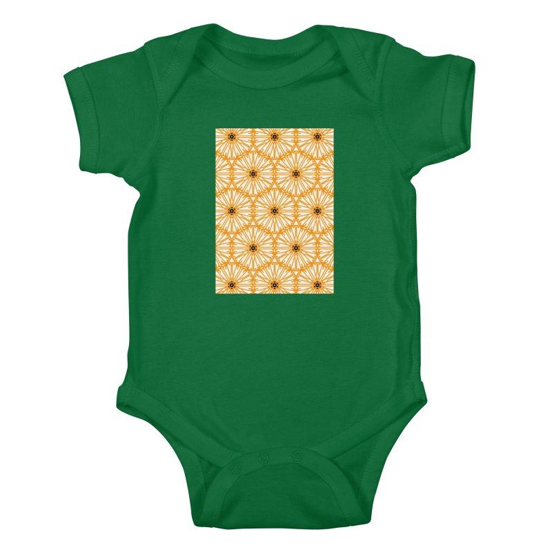 Sunflower Kids Baby Bodysuit by Gab Fernando's Artist Shop