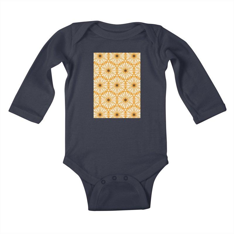 Sunflower Kids Baby Longsleeve Bodysuit by Gab Fernando's Artist Shop