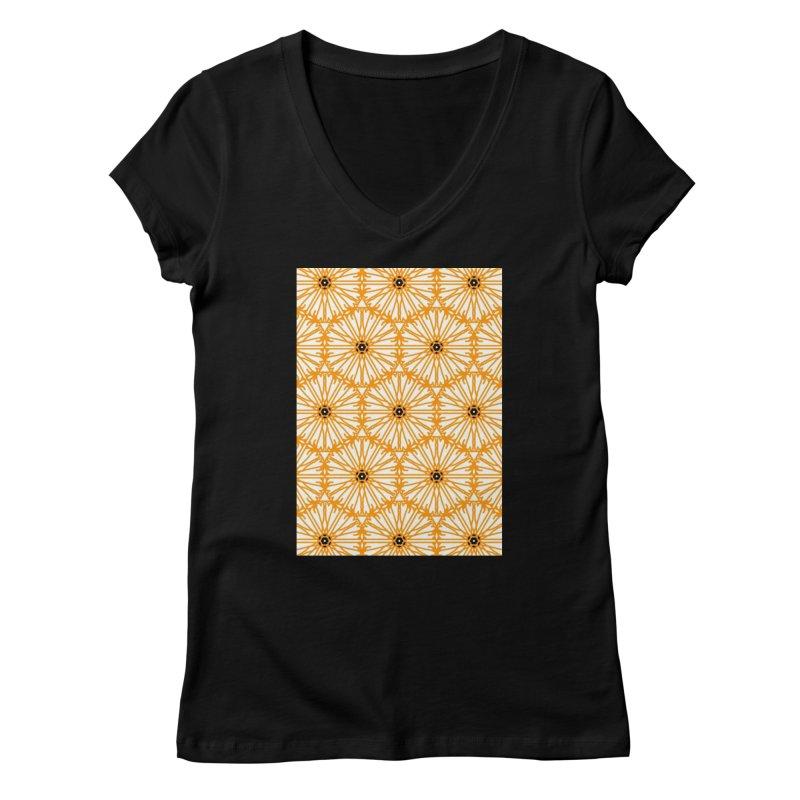 Sunflower Women's V-Neck by Gab Fernando's Artist Shop