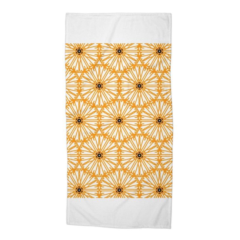 Sunflower Accessories Beach Towel by Gab Fernando's Artist Shop