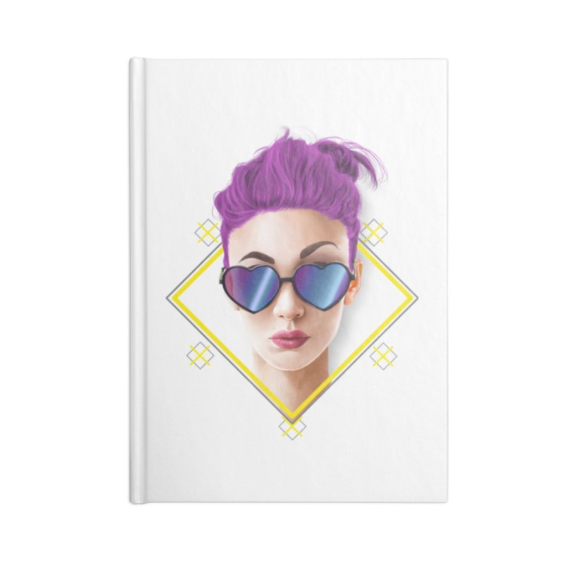 girl_glasses_heart Accessories Lined Journal Notebook by gabifaveri's Artist Shop