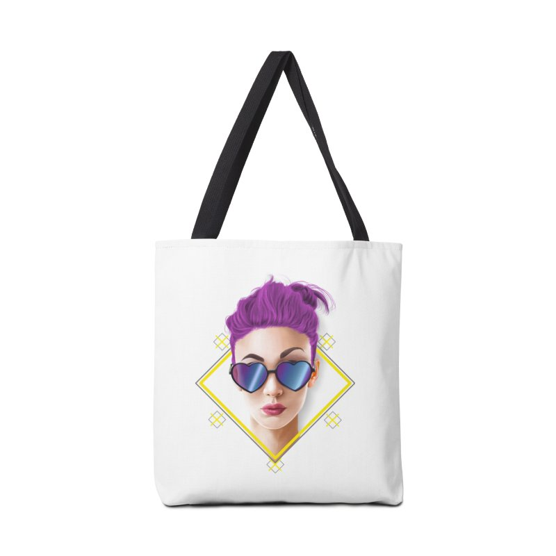 girl_glasses_heart Accessories Tote Bag Bag by gabifaveri's Artist Shop