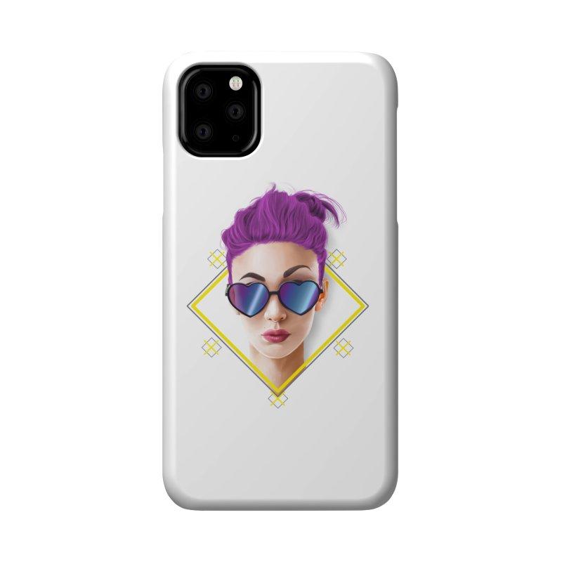 girl_glasses_heart Accessories Phone Case by gabifaveri's Artist Shop