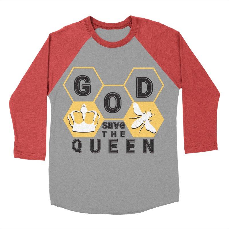 god save the queen_2 Men's Baseball Triblend T-Shirt by gabifaveri's Artist Shop