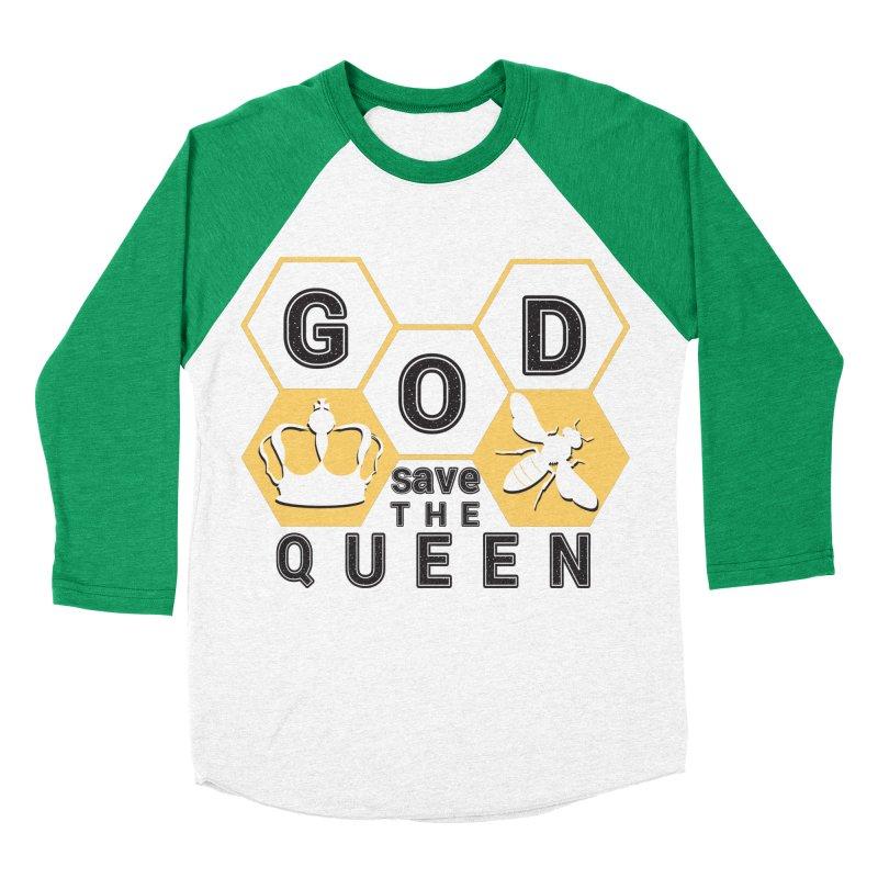 god save the queen_2 Men's Baseball Triblend Longsleeve T-Shirt by gabifaveri's Artist Shop