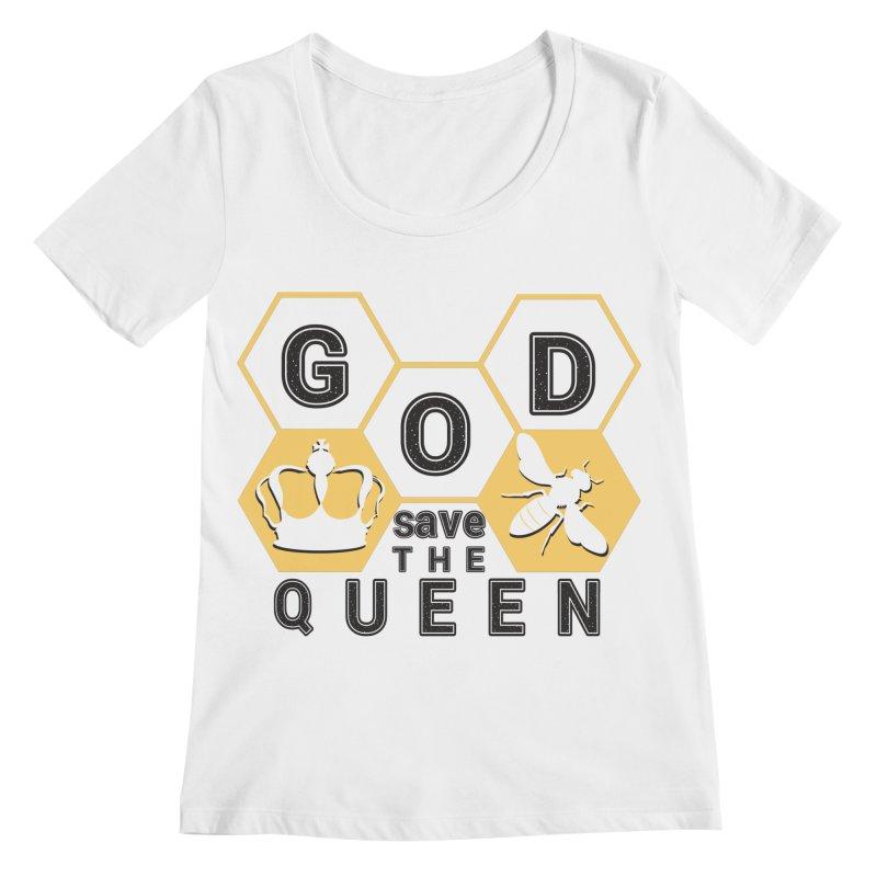 god save the queen_2 Women's Scoopneck by gabifaveri's Artist Shop