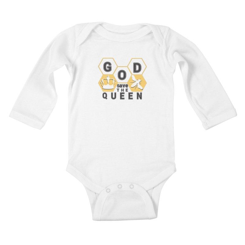 god save the queen_2 Kids Baby Longsleeve Bodysuit by gabifaveri's Artist Shop