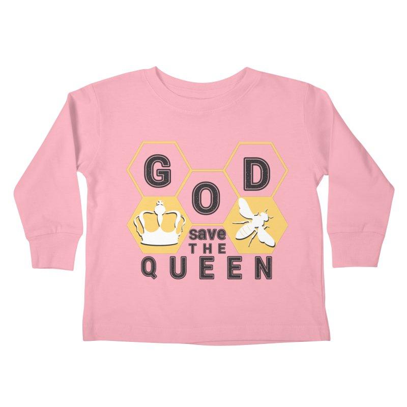 god save the queen_2 Kids Toddler Longsleeve T-Shirt by gabifaveri's Artist Shop
