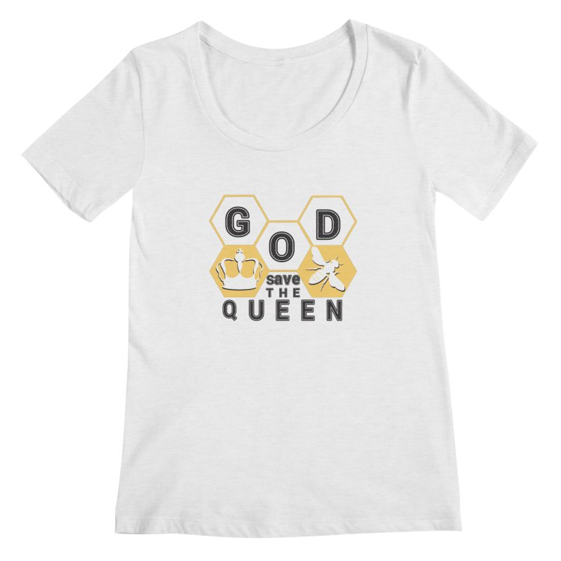 god save the queen_2 Women's Scoopneck by gabifaveri's Artist Shop