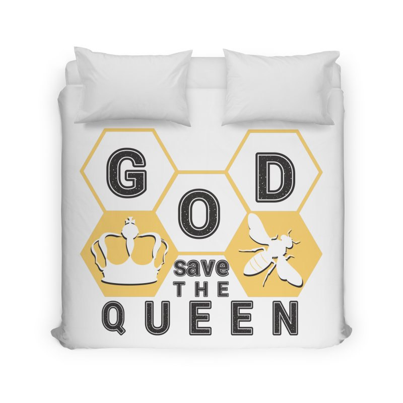 god save the queen_2 Home Duvet by gabifaveri's Artist Shop