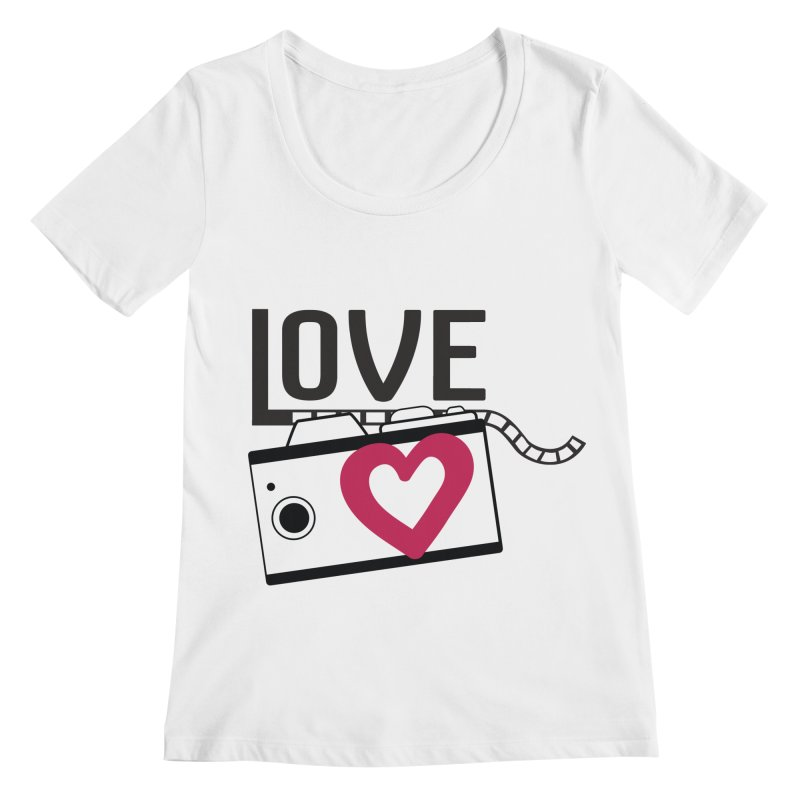 love photograph_camera_2 Women's Scoopneck by gabifaveri's Artist Shop