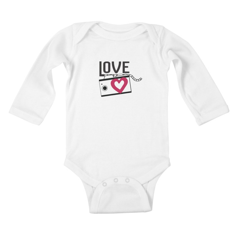 love photograph_camera_2 Kids Baby Longsleeve Bodysuit by gabifaveri's Artist Shop