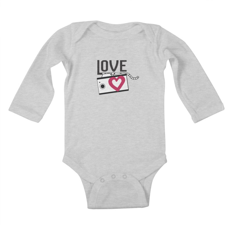 love photograph_camera_2 Kids Baby Longsleeve Bodysuit by gabifaveri's Artist Shop