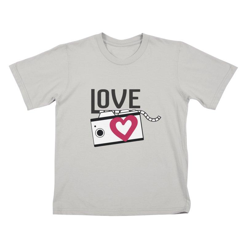 love photograph_camera_2 Kids T-Shirt by gabifaveri's Artist Shop