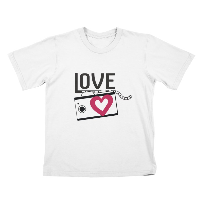 love photograph_camera_2 Kids T-Shirt by gabifaveri's Artist Shop