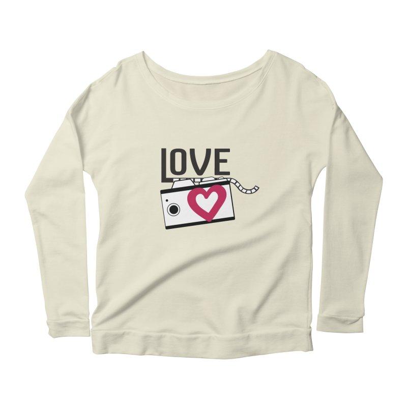 love photograph_camera_2 Women's Scoop Neck Longsleeve T-Shirt by gabifaveri's Artist Shop