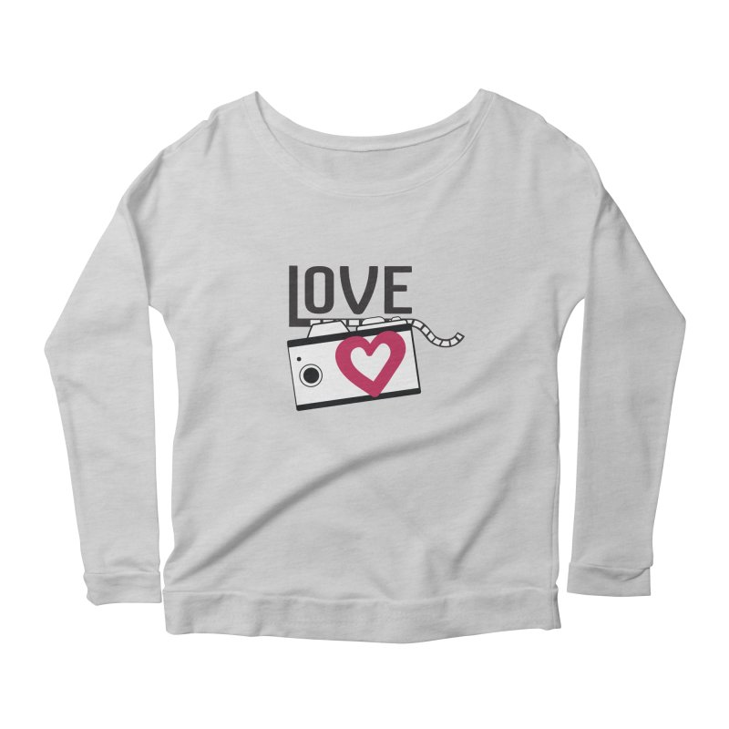 love photograph_camera_2 Women's Scoop Neck Longsleeve T-Shirt by gabifaveri's Artist Shop