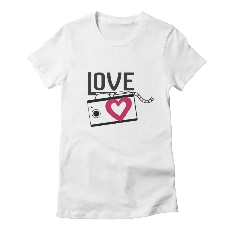 love photograph_camera_2 Women's Fitted T-Shirt by gabifaveri's Artist Shop
