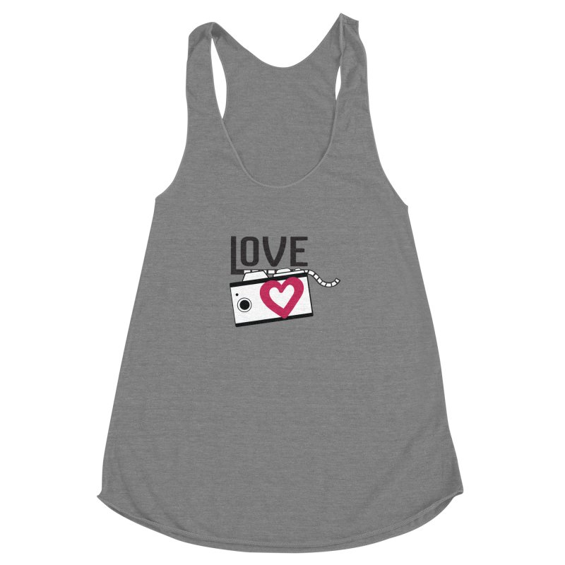 love photograph_camera_2 Women's Racerback Triblend Tank by gabifaveri's Artist Shop
