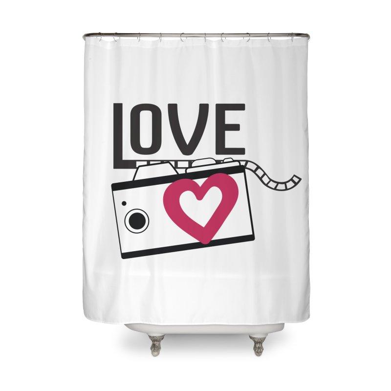 love photograph_camera_2 Home Shower Curtain by gabifaveri's Artist Shop