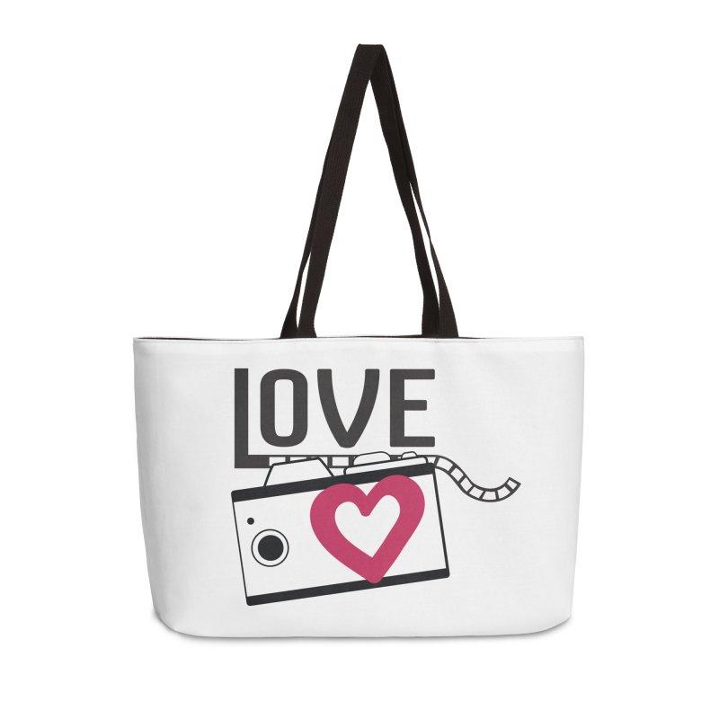 love photograph_camera_2 Accessories Weekender Bag Bag by gabifaveri's Artist Shop