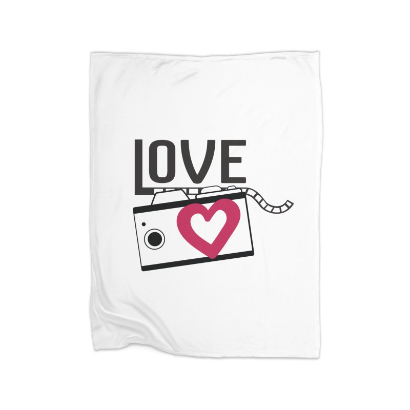love photograph_camera_2 Home Fleece Blanket Blanket by gabifaveri's Artist Shop