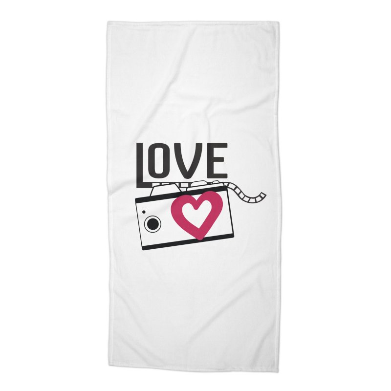 love photograph_camera_2 Accessories Beach Towel by gabifaveri's Artist Shop