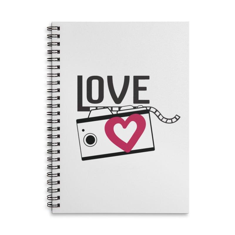 love photograph_camera_2 Accessories Lined Spiral Notebook by gabifaveri's Artist Shop