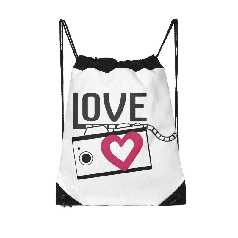 love photograph_camera_2 Accessories Drawstring Bag Bag by gabifaveri's Artist Shop