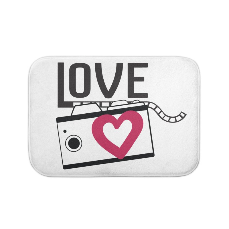 love photograph_camera_2 Home Bath Mat by gabifaveri's Artist Shop