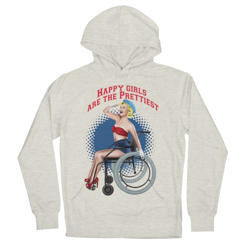 pinup_pretty girl Women's French Terry Pullover Hoody by gabifaveri's Artist Shop