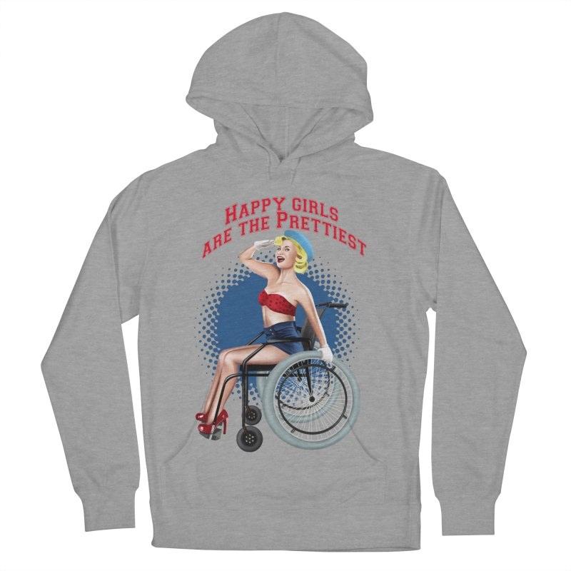 pinup_pretty girl Men's French Terry Pullover Hoody by gabifaveri's Artist Shop