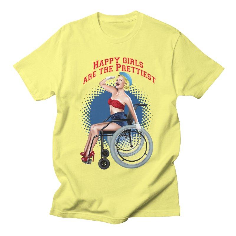 pinup_pretty girl Men's Regular T-Shirt by gabifaveri's Artist Shop
