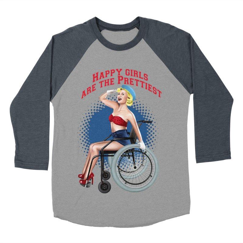 pinup_pretty girl Men's Baseball Triblend Longsleeve T-Shirt by gabifaveri's Artist Shop