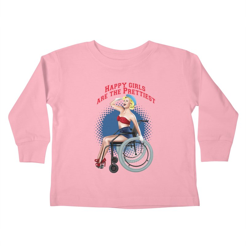 pinup_pretty girl Kids Toddler Longsleeve T-Shirt by gabifaveri's Artist Shop