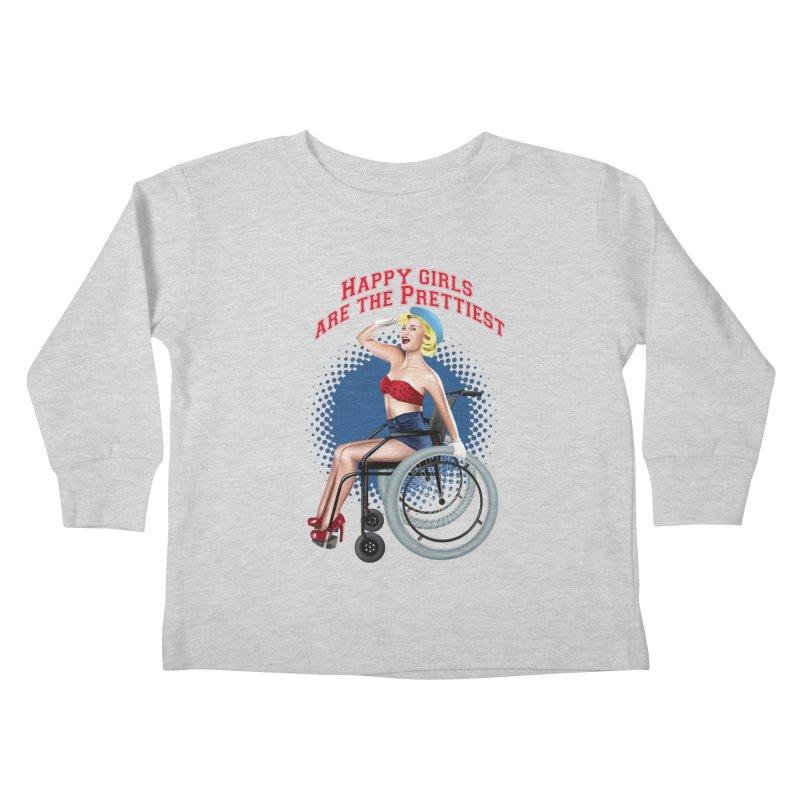 pinup_pretty girl Kids Toddler Longsleeve T-Shirt by gabifaveri's Artist Shop