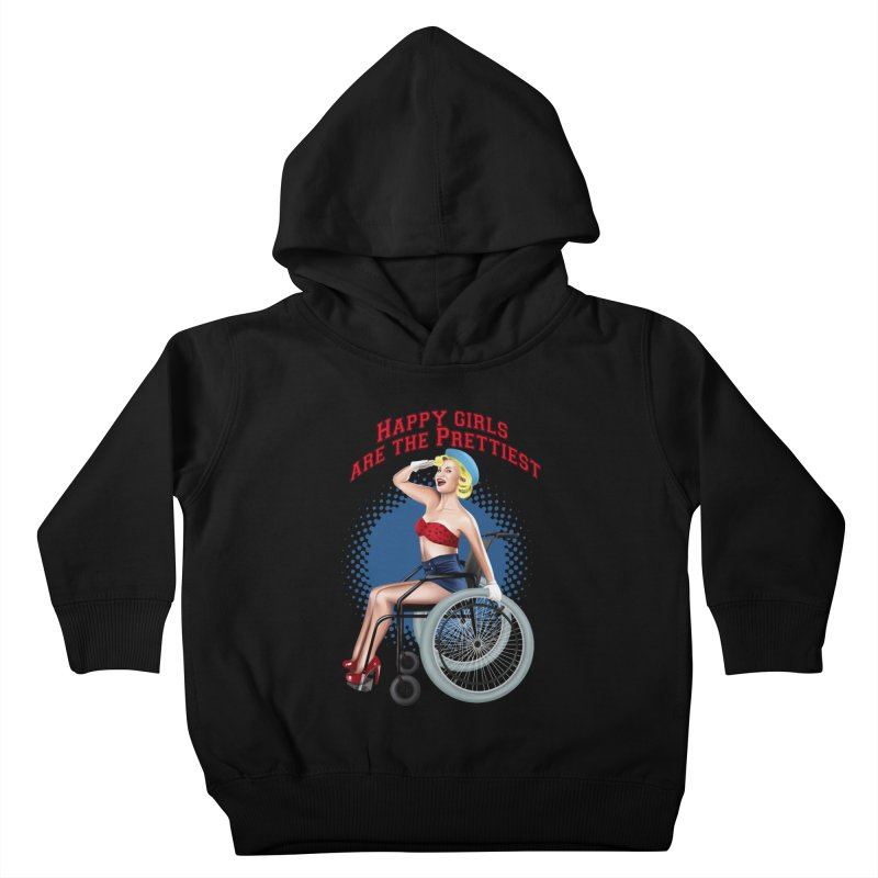 pinup_pretty girl Kids Toddler Pullover Hoody by gabifaveri's Artist Shop