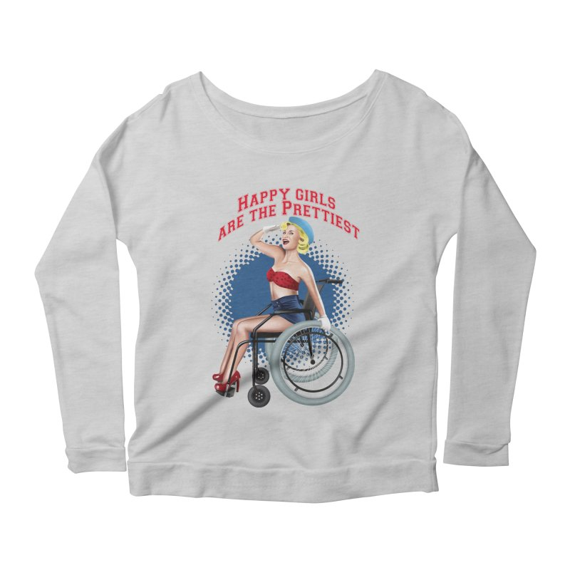 pinup_pretty girl Women's Scoop Neck Longsleeve T-Shirt by gabifaveri's Artist Shop